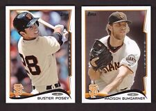 2014 Topps SAN FRANCISCO GIANTS Team Set 1 & 2 w/ Updates World Series Champions