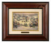 Thomas Kinkade St Nicholas Circle 5 x 7 Brushwork (Burl Frame)
