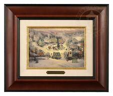 Thomas Kinkade St Nicholas Circle - Brushwork (Burl Frame)
