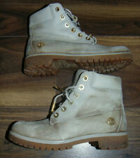 Timberland Womens Boots UK Size 4 Soft Light Grey Suede Lace Up EUR. 37