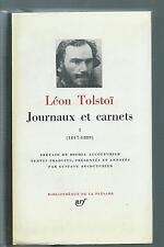 (73505) - TOLSTOÏ Léon; Journaux et carnets; tome 1 : 1847-1889 (Pléiade)
