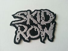 HEAVY METAL PUNK ROCK MUSIC SEW / IRON ON PATCH:- SKID ROW (a) SILVER