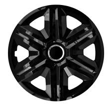 environ 40.64 cm Set de 4 Unitec 75569 Daytona Enjoliveurs 16 in noir//argent