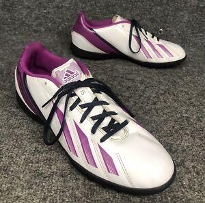 Adidas F-50 Women's Size 8 White & Fuchsia Lightweight Golf Shoes In EUC