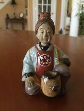 Antique Chinese Peasant Nodder Spice Jar Terra Cotta