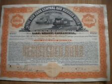 THE NEW YORK CENTRAL AND HUDSON RIVER RAILROAD COMPANY-GOLD BOND- FREE SHIPPING