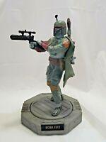 Vintage Star Wars Boba Fett Figure Statue w/ Rotating Base Hasbro 1998