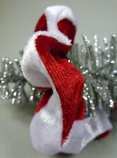 Weihnachten Advent Nikolaus Damen Mädchen Schmuck Haargummi rot weiß Samt - NEU