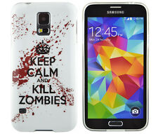 Schutzhülle f Samsung Galaxy S5 i9600 Case Cover TPU keep calm kill zombies