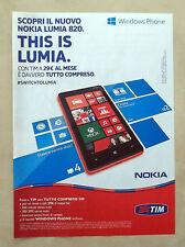 B354-Advertising Pubblicità-2012 - TIM - NOKIA LUMIA 820