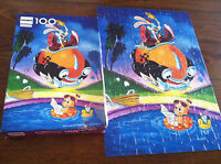 WHO FRAMED ROGER RABBIT 100 PIECE JIGSAW PUZZLE COMPLETE 1987! CRONER PUZZLE 80S