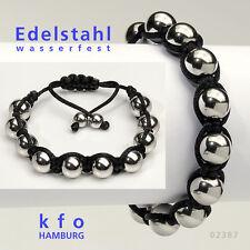 Shamballa Armband TennisArmband SurferArmband Silber Edelstahl Armband 02387