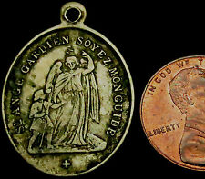 a2: Late 1800's Canada (Saints Anges, Quebec) Catholic Icon Medal
