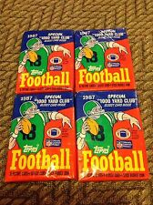 1987 topps football wax packs (4)  John Elway  Dan Marino  Joe Montana  possible