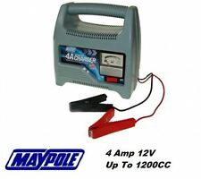 Maypole 4A 4 Amp 12V To 1200cc Car Van Motorcycle Battery Charger MP7414