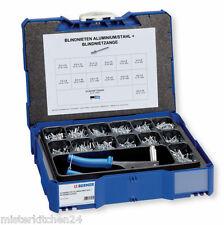Berner Blindnieten-Sortiment + Nietzange Flachkopf 1451tlg. Gr.3-6 Systainer Box