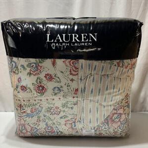 Ralph Lauren Lucie Romantic Queen Full Comforter Set Floral 3P Indian Motif $335