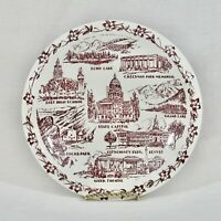 Vernon Kilns Plate DENVER CO City County Bldg East High Red Rocks Cheesman FLAWS
