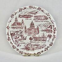 Vernon Kilns Plate DENVER CO City County Bldg East High Red Rocks Cheesman FLAWS