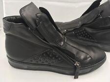 Bruno Bordese Nero Black Leather Men Shoes 44