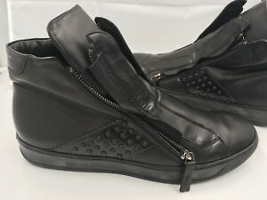 Bruno Bordese Nero Black Leather Men Shoes 44