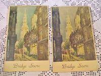 Bridge Score Booklets Advertising Charles A Grisel Funeral Directors Vintage