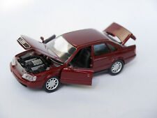 Audi A6 C4 Limousine saloon in rot rouge rosso red metallic, Schabak 1:43 boxed!