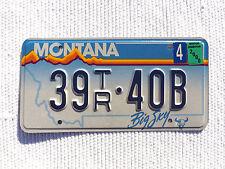 "2000 MONTANA ""BIG SKY"" License Plate Tag #39TR-40B with expired sticker"
