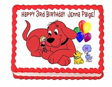 Clifford the Big Red Dog party cake image frosting sheet - personalized free!