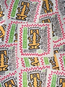 Keith Haring & Paradise Garage Iron-On Patch Larry Levan Disco Nightclub 80s nyc