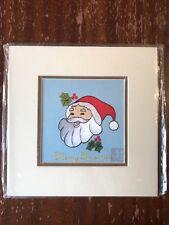 China Embroidery Art Inc Handmade Silk Royal Santa Claus Christmas Matted Paint