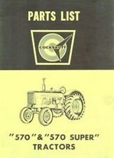 Cockshutt 570 Tractor Repair Parts List Manual