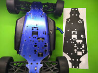 KYOSHO INFERNO GT Chassis plate protector  BLACK CARBON FIBER look