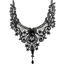 Elegant Handmade Lace beads Collar Choker Necklace Gothic Womens