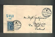 1938 Finland to Iceland via London First FLight Cover FFC # B34
