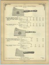 1894 PAPER AD Keen Kutter Beatty's Butcher Cleaver Chopper Sausage Stuffer