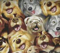Selfie dogs Timeless Treasures fabric