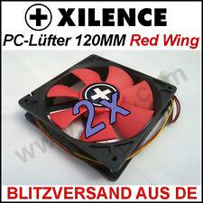 2x [Xilence] 120mm Red Wing carcasa-ventilador/fan → rojo 12cm case radiador PC xpf120