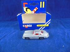 Scarce 1988 Corgi Juniors Mercedes Benz 300 SL Gullwing in Silver red interior