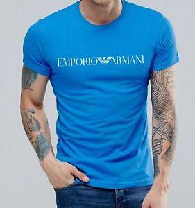 Emporio Armani Mens Blue Muscle fit T-shirt Size M,L,XL