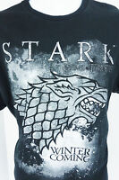 Large Game of Thrones Stark Wolf Winter is Coming Black T Shirt GOT