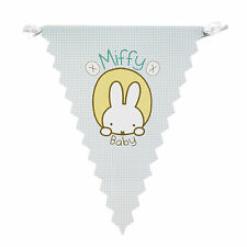 Baby Miffy Paper Party Bunting Baby Shower Christening Birthday Celebration