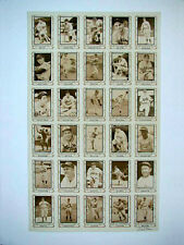 1980-1981 PACIFIC LEGENDS UNCUT SHEETS SERIES 1 & 2 SIGNED BY MICHAEL CRAMER