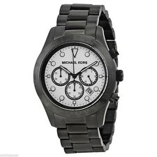 Michael Kors Women's 44mm Chronograph Black Steel Bracelet & Case Watch MK6083
