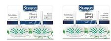 2 BLOC  AVEC JAVEL X 2 POUR WC STARWAX 5553 préserve l'éclat nettoie désodorise
