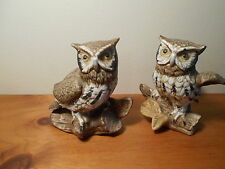 #1114 Set of Owls Figurines Vintage Home Interiors