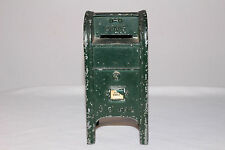 1960's US Mail Die Cast Metal Collection Box Bank