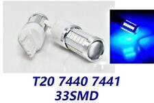 Blue Rear Turn Signal Lights T20 7440 7441 W21W 992 33 LED Bulb A1 LAX