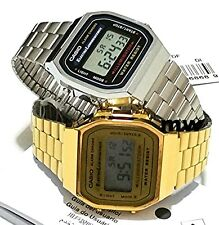Casio Couples Pair Unisex Watch VINTAGE RETRO DIGITAL QUARTZ A-168WG A-168WA