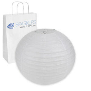 """10 pcs 14"""" inch Chinese Paper Lantern - White - Wedding Party Event dm"""